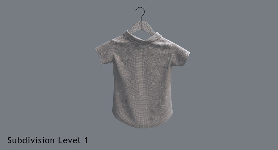 Koszulka męska + wieszak 002 royalty-free 3d model - Preview no. 16