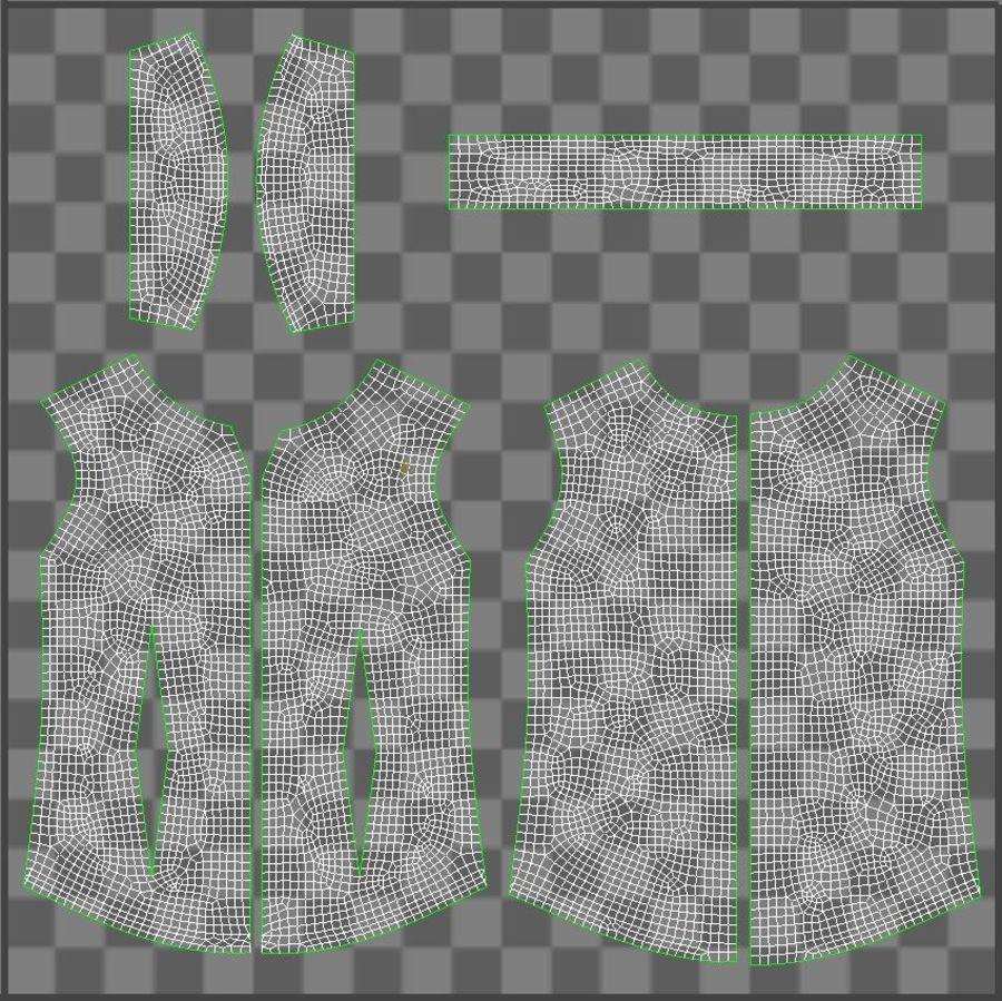 Koszulka męska + wieszak 002 royalty-free 3d model - Preview no. 21