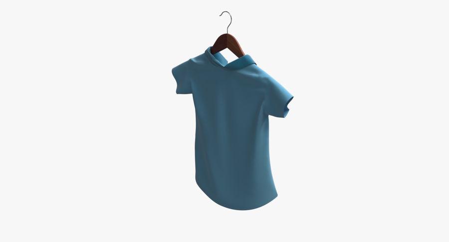 Koszulka męska + wieszak 002 royalty-free 3d model - Preview no. 7