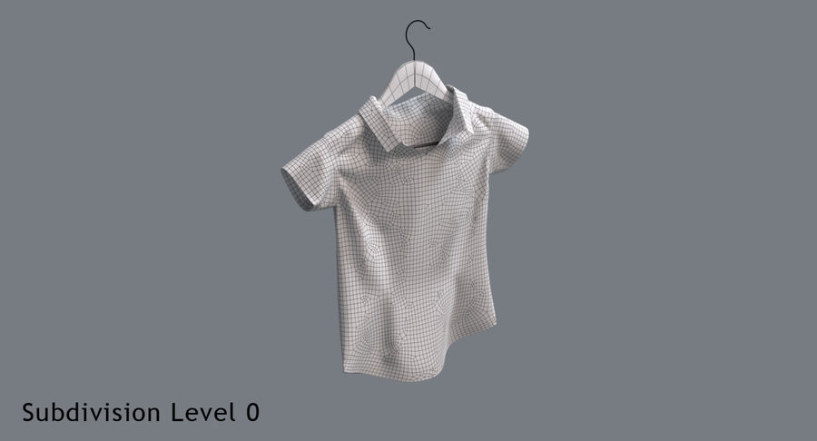 Koszulka męska + wieszak 002 royalty-free 3d model - Preview no. 13