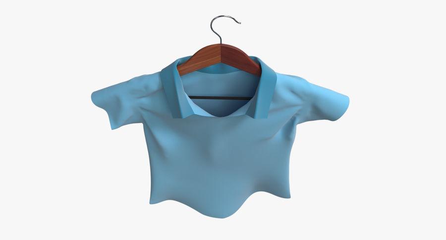 Koszulka męska + wieszak 002 royalty-free 3d model - Preview no. 8