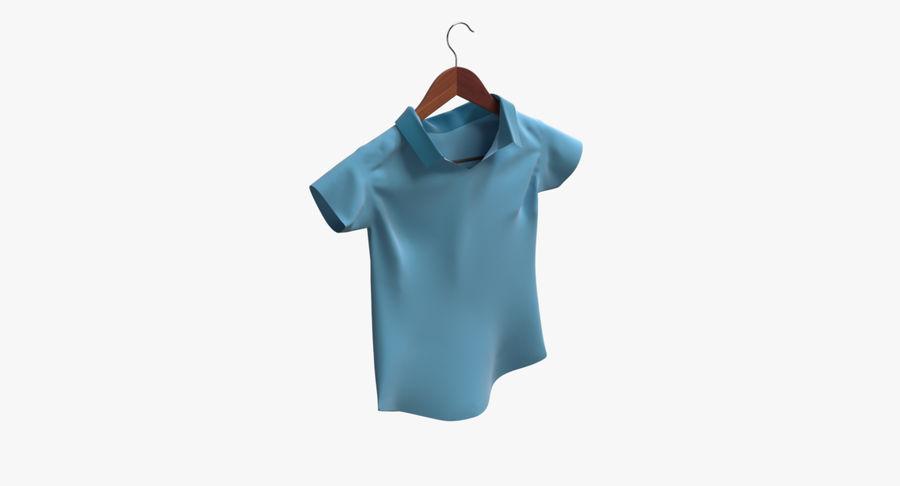 Koszulka męska + wieszak 002 royalty-free 3d model - Preview no. 2