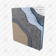 Système constructif pour panneaux 3D EPS Concrete-Detail A 3d model