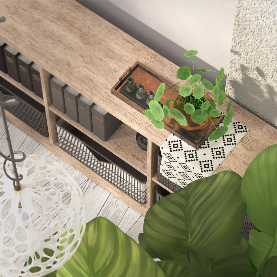 Indoor plant collection royalty-free 3d model - Preview no. 4