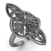 Arabesque four leaves ring 3d model