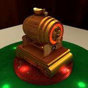 Chinese wisky barrel 3d model