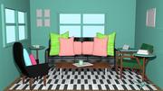 Model 3D do salonu | Pokój wewnętrzny | Cartoonic Projektowanie wnętrz 3d model