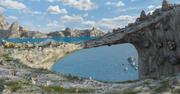 Rock Bridge Landscape 3d model