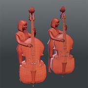 Musik Menschen 02 (Jazz) 3d model