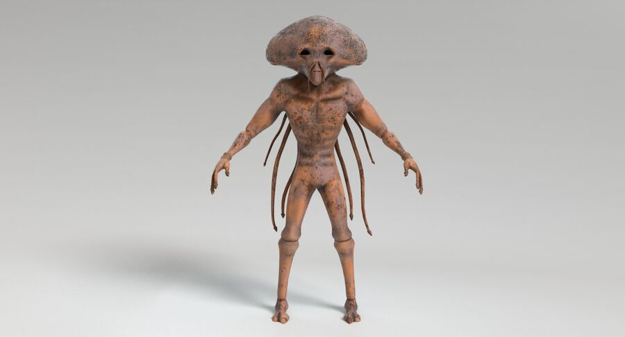 Sci-fi Alien royalty-free 3d model - Preview no. 5