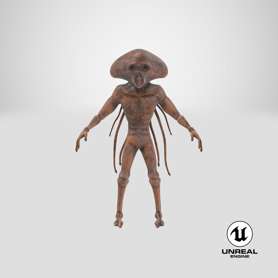 Sci-fi Alien royalty-free 3d model - Preview no. 27