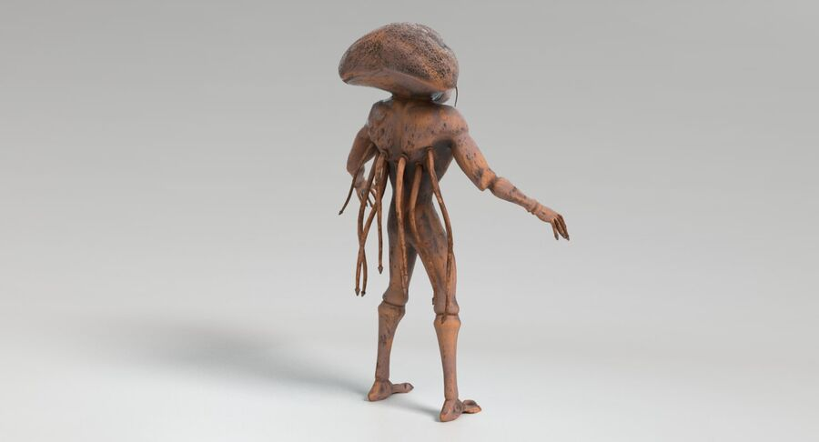 Sci-fi Alien royalty-free 3d model - Preview no. 8