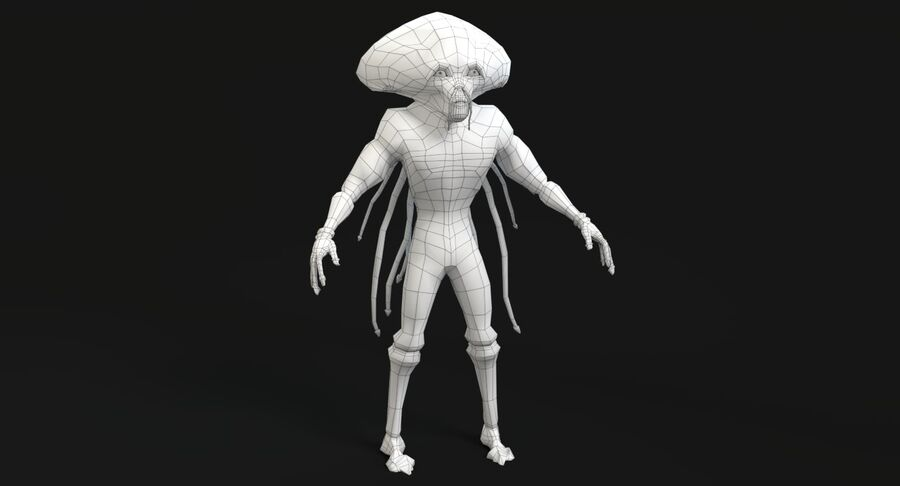 Sci-fi Alien royalty-free 3d model - Preview no. 15