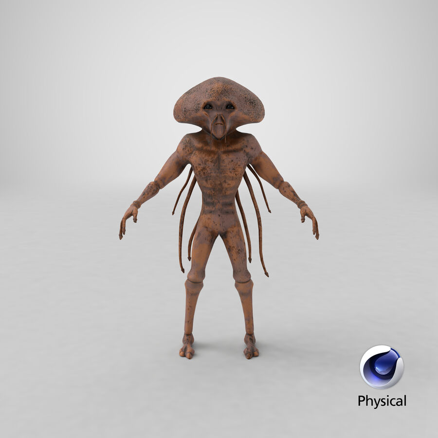 Sci-fi Alien royalty-free 3d model - Preview no. 26