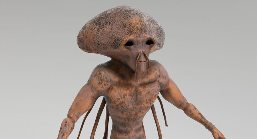 Sci-fi Alien royalty-free 3d model - Preview no. 4