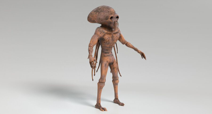 Sci-fi Alien royalty-free 3d model - Preview no. 6