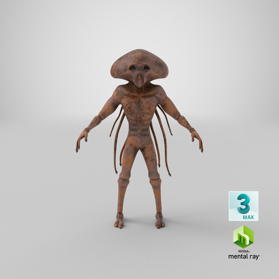 Sci-fi Alien royalty-free 3d model - Preview no. 25