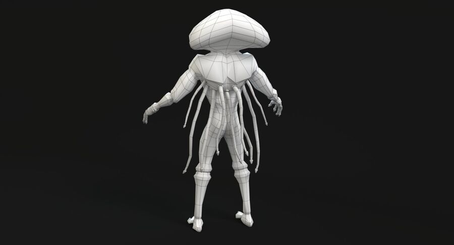 Sci-fi Alien royalty-free 3d model - Preview no. 19