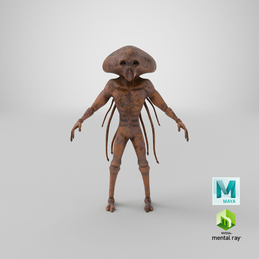 Sci-fi Alien royalty-free 3d model - Preview no. 23