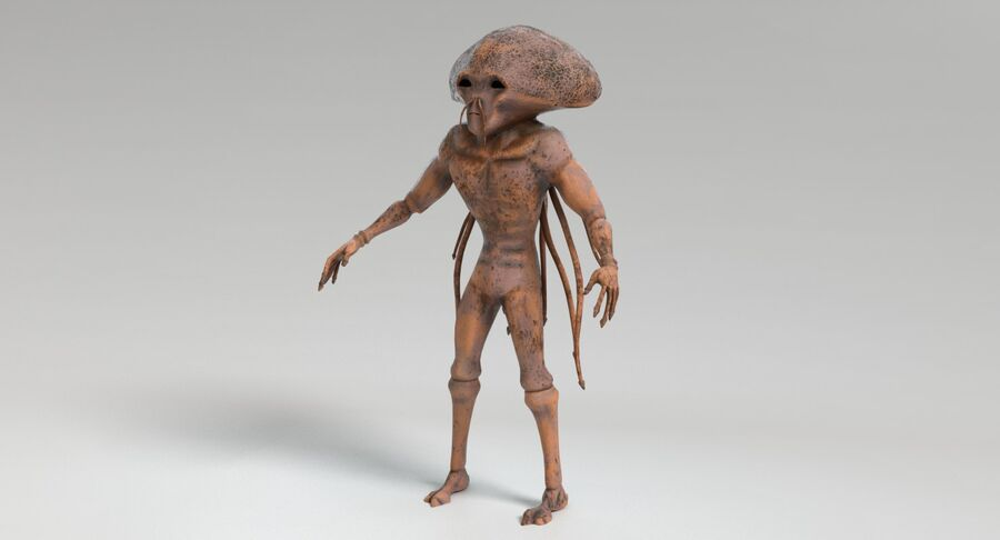 Sci-fi Alien royalty-free 3d model - Preview no. 12