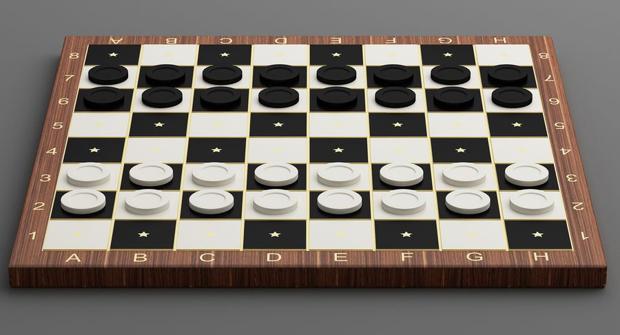 Board Games Collection 3in1 royalty-free 3d model - Preview no. 21