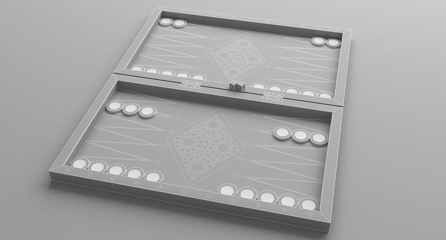 Board Games Collection 3in1 royalty-free 3d model - Preview no. 15