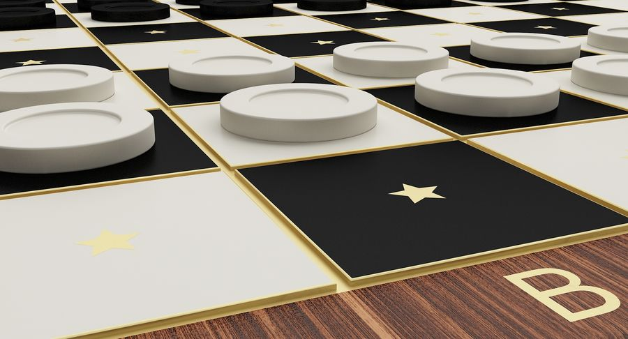 Board Games Collection 3in1 royalty-free 3d model - Preview no. 22