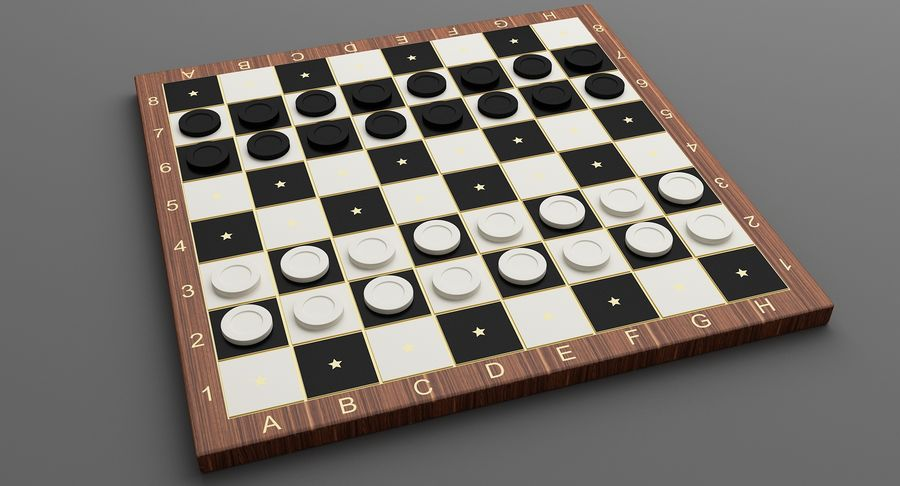 Board Games Collection 3in1 royalty-free 3d model - Preview no. 19