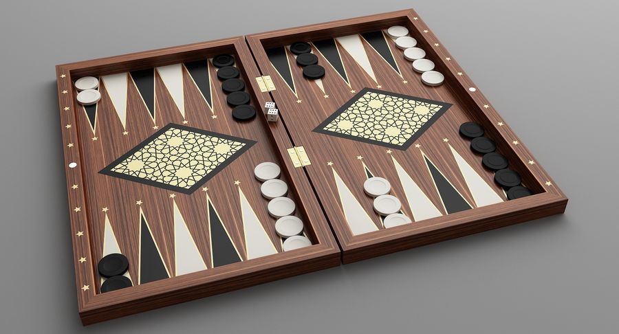 Board Games Collection 3in1 royalty-free 3d model - Preview no. 14