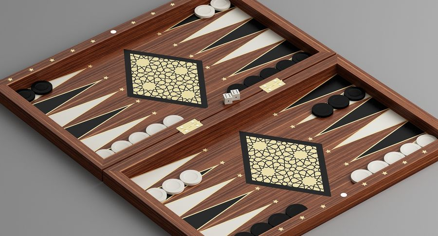 Board Games Collection 3in1 royalty-free 3d model - Preview no. 12