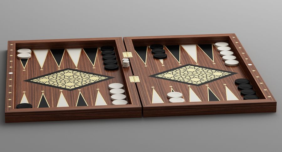 Board Games Collection 3in1 royalty-free 3d model - Preview no. 10