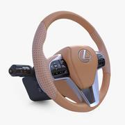 Lexus Steering Wheel 3d model