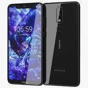 Nokia 5.1 Plus (Nokia X5) Schwarz 3d model