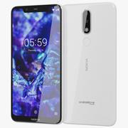 Nokia 5.1 Plus (Nokia X5) bianco 3d model