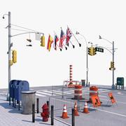 Zestaw uliczny 3d model