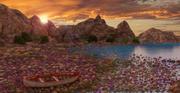 Fantasy Rocky Beach 3d model