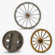 Antique Wagon Wheels 3D模型收藏2 3d model