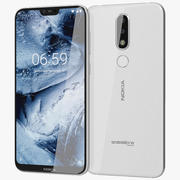Nokia 6.1 Plus (Nokia X6) bianco 3d model