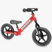 Kids Balance Bike Red 3d model