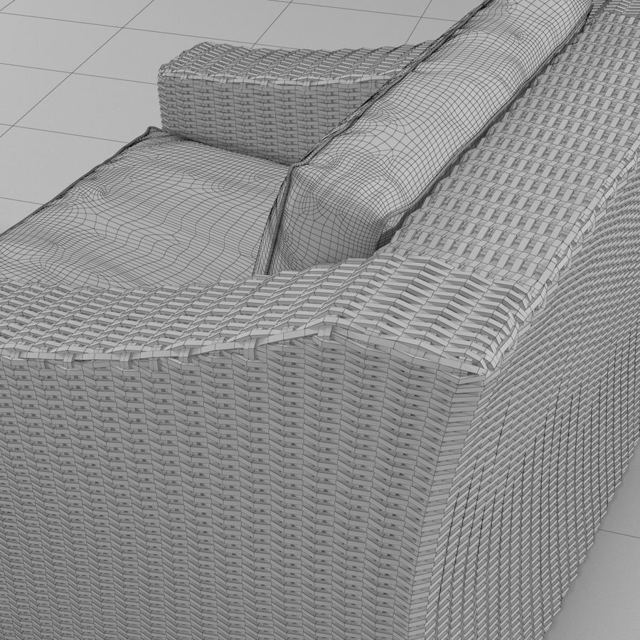 Sillón de ratán royalty-free modelo 3d - Preview no. 5