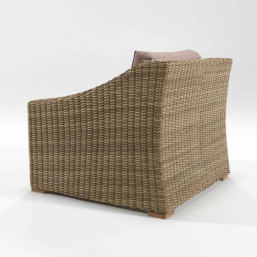 Sillón de ratán royalty-free modelo 3d - Preview no. 2