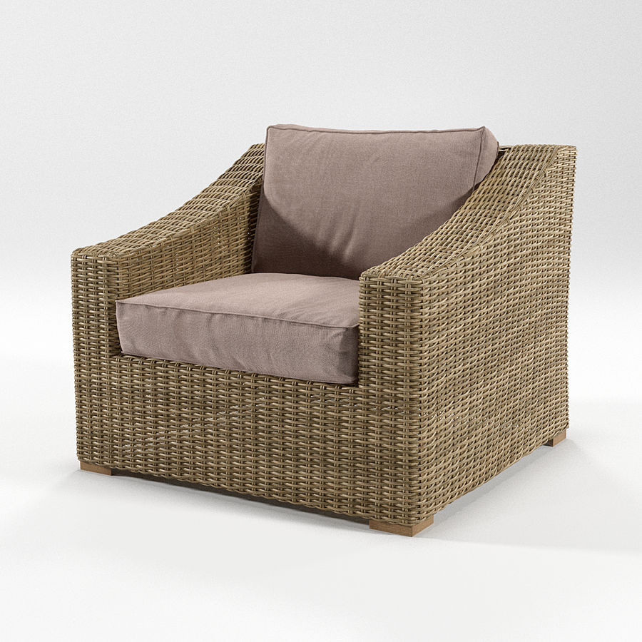 Sillón de ratán royalty-free modelo 3d - Preview no. 1