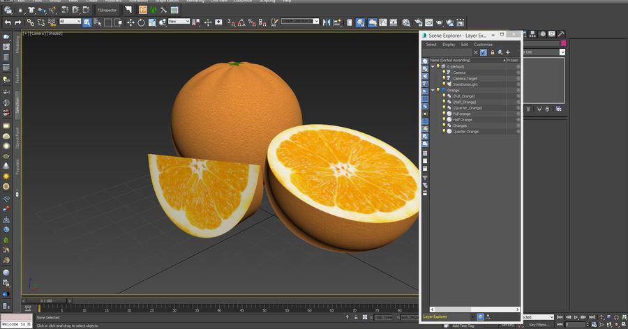 Laranjas Frutas royalty-free 3d model - Preview no. 13