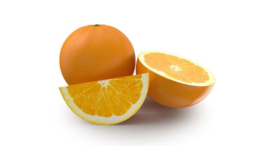 Laranjas Frutas royalty-free 3d model - Preview no. 3