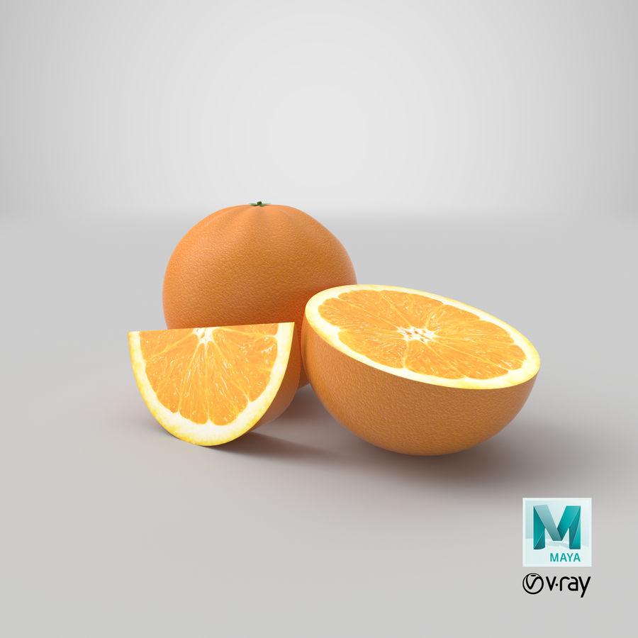 Laranjas Frutas royalty-free 3d model - Preview no. 14