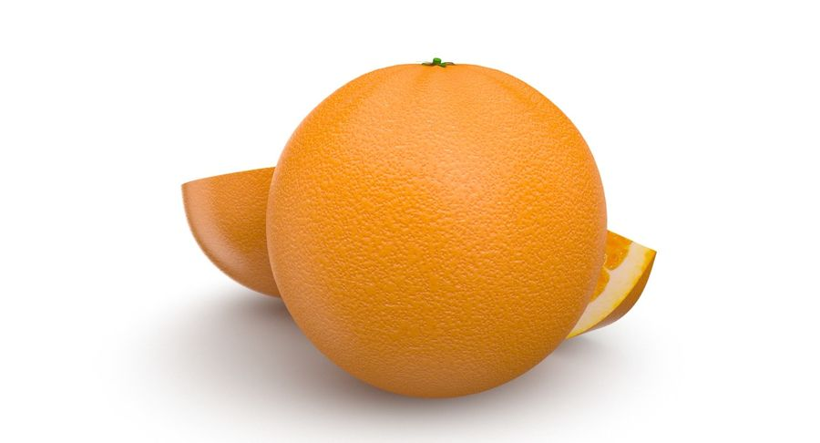 Laranjas Frutas royalty-free 3d model - Preview no. 5