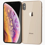 Apple iPhone Xs Guld 3d model