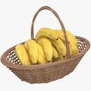 바나나 바구니 3d model