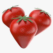 Fruta de fresa modelo 3d