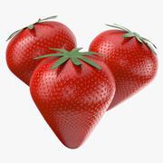Frutta Fragola 3d model